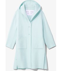 proenza schouler white label hooded doubleface coat aqua/green l