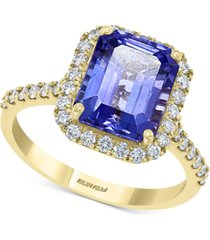effy tanzanite (2-7/8 ct. t.w.) & diamond (3/8 ct. t.w.) ring in 14k gold