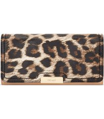 billetera file clutch kennedy nine west para mujer leopard animal print