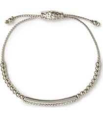 rhinestone bar slider bracelet
