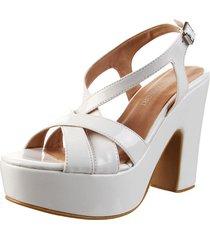 sandalia blanca euro confort
