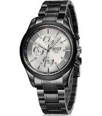reloj cuarzo casual acero inoxidable bsk12 color negro blanco