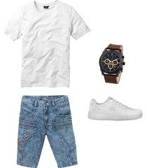 regular fit jeans bermuda
