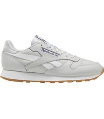 tenis classics reebok classic leather mark - gris-blanco