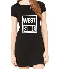 vestido criativa urbana estampado west side