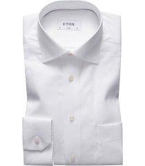 men's eton classic fit solid dress shirt, size 17.5 - white