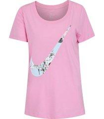 camiseta nike sportswear ultra - feminina - rosa claro