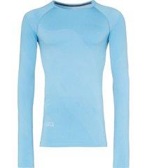 asics x kiko seamless long-sleeved t-shirt - blue