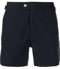 tom ford straight-leg swim shorts - blue