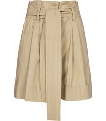 parosh canyox belted cotton shorts