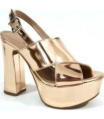 sandalia dorada euro confort