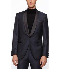 boss men's henry3/glow2 slim-fit virgin-wool tuxedo suit