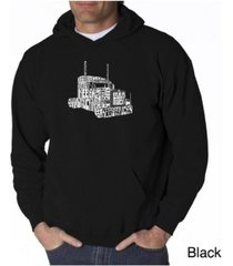 la pop art men's word art hoodie - keep on truckin