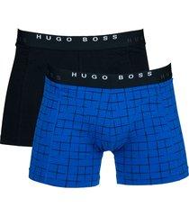 hugo boss boxers cyclist 2-pak blauw-zwart