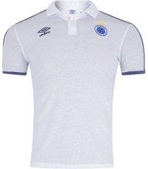 camisa polo do cruzeiro viagem 2019 umbro - masculina - branco/azul esc