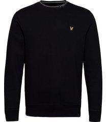 branded ringer sweatshirt sweat-shirt trui zwart lyle & scott