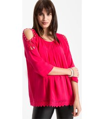 cold shoulder blouse met kant