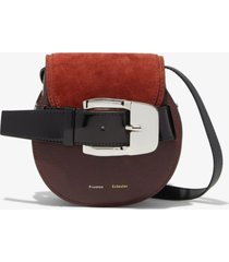 proenza schouler buckle mini crossbody bag russet/brown one size