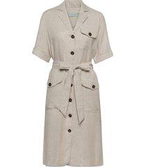 blanca safari dress jurk knielengte beige morris lady