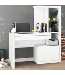 mesa para computador 2 portas 1 gaveta  me4143 branco - tecno mobili