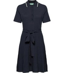 cadence knit dress knälång klänning blå morris lady