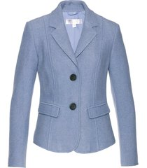 blazer in misto lana semi foderato (blu) - bpc selection premium