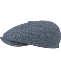 stetson hatteras classic wool flat cap | blue | 6840514-322