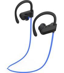 audífonos bluetooth deportivos, q12 auriculares colgantes de música estéreo audifonos bluetooth manos libres  auriculares deportivos (azul)