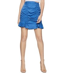bcbgeneration ruched-front mini skirt