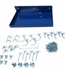 triton products durahook epoxy coated locking steel pegboard shelf with 36 piece durahook locking pegboard hook assortment