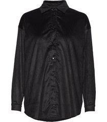 abi collar shirt blouse lange mouwen zwart r/h studio