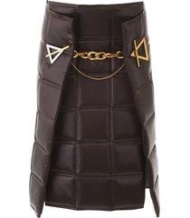 bottega veneta quilted skirt