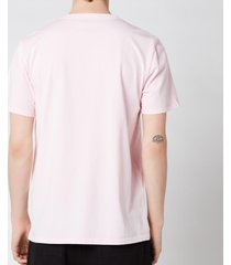 maison kitsuné men's handwriting classic t-shirt - light pink - xxl