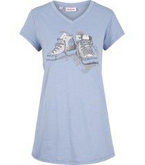 maglia lunga stampata (blu) - john baner jeanswear