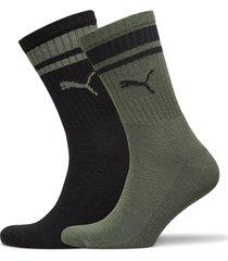 puma crew heritage stripe 2p unisex underwear socks regular socks multi/mönstrad puma