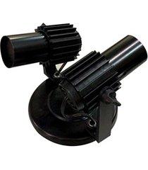 spot de sobrepor para 2 lâmpadas com aleta preto