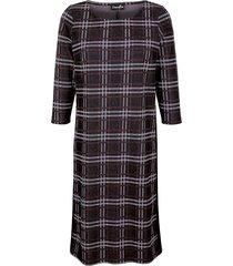 glencheckrutig klänning dress in fuchsia