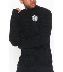 dr denim helix knit tröjor svart