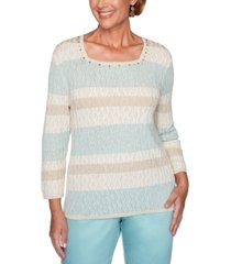 alfred dunner cottage charm biadere texture sweater