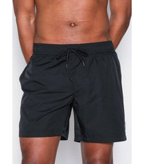 topman black mid length swim shorts badkläder black