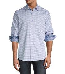 robert graham men's russel mixed-print shirt - blue - size xxl