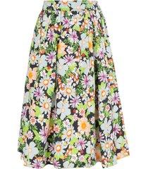 hearst castle skirt, floral blue