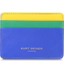 women's kurt geiger london rainbow shop 690 tricolor card holder - blue