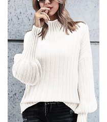 long sleeves high neck sweater