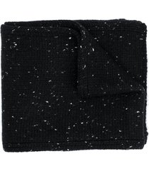 bonpoint speckled knit scarf - black