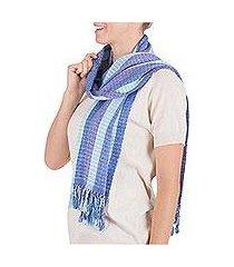 scarf, 'sapphire herons' (guatemala)