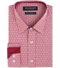 nick graham men's dobby gingham shirt