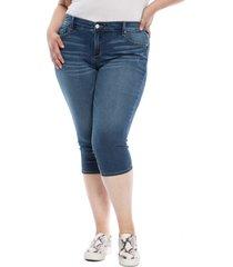 slink jeans frayed crop capri jeans, size 24w in palmer at nordstrom