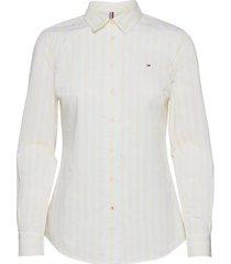 org cotton regular shirt ls overhemd met lange mouwen wit tommy hilfiger
