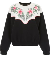 alanui tropical flowers pullover